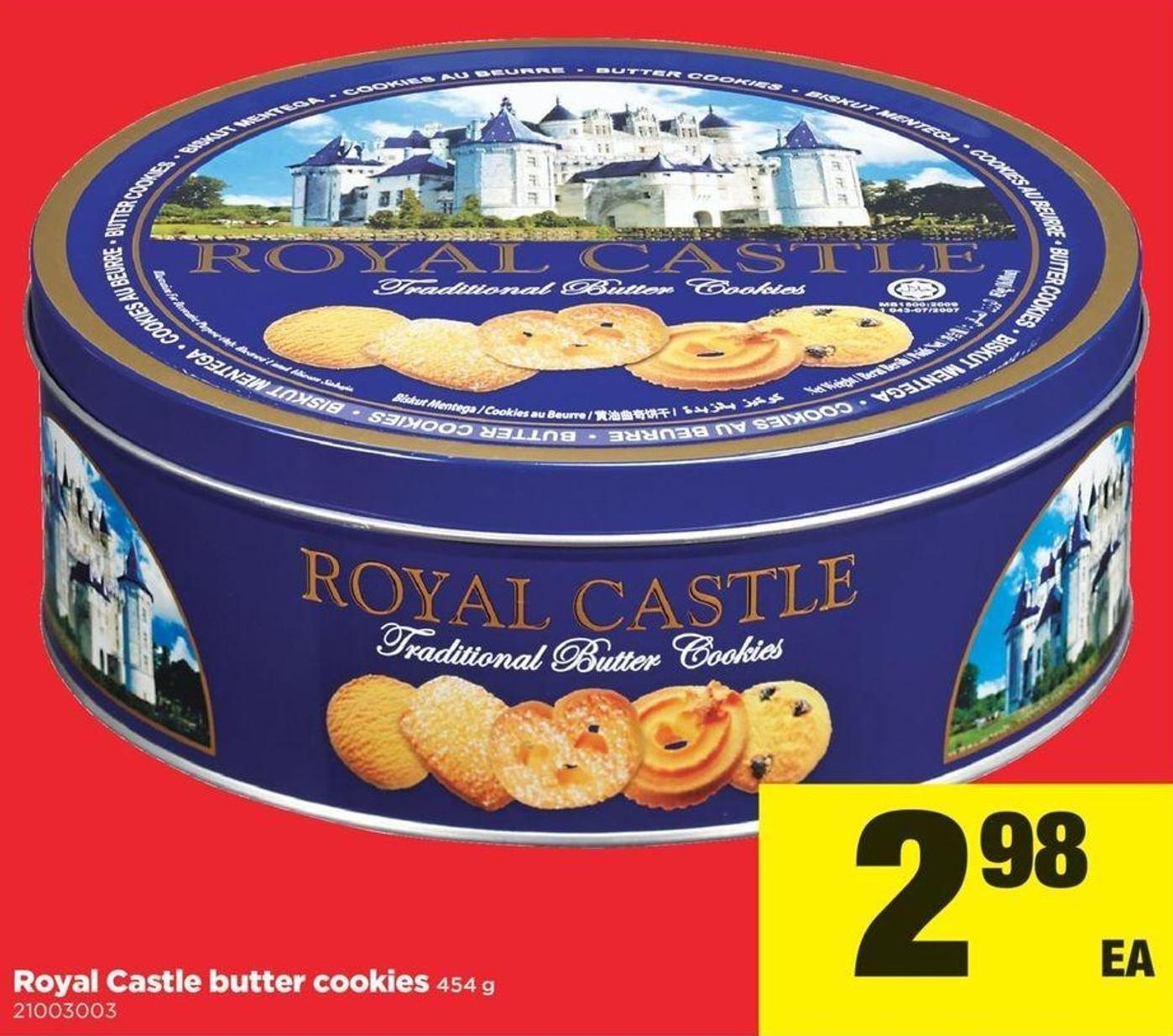 Royal Castle Butter Cookie - 454 g