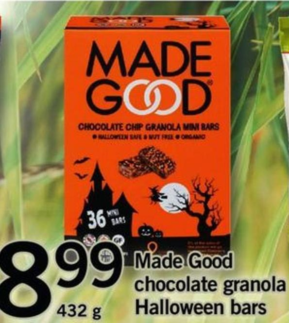 Made Good Chocolate Granola Halloween Bars - 432 G