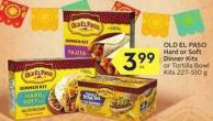 Old El Paso Hard or Soft Dinner Kits - 20 Air Miles Bonus Miles