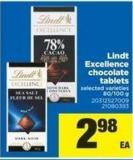 Lindt Excellence Chocolate Tablets - 80-100 g