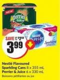 Nestlé Flavoured Sparkling Cans 8 X 355 mL Perrier & Juice 6 X 330 mL