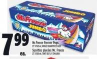 Mr.freeze Freezer Pops 27 X 150 ml