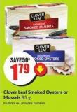 Clover Leaf Smoked Oysters