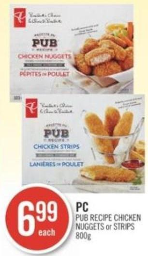 PC Pub Recipe Chicken Nuggets or Strips 800 g