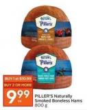 Piller's Naturally Smoked Boneless Hams 800 g