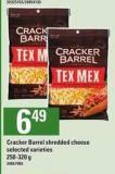 Cracker Barrel Shredded Cheese - 250-320 g
