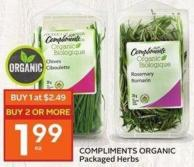 Compliments Organic Packaged Herbs