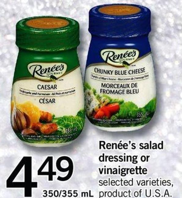 Renée's Salad Dressing Or Vinaigrette - 350/355 Ml