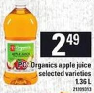 PC Organics Apple Juice - 1.36 L