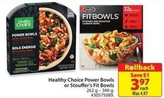 Healthy Choice Power Bowlsor Stouffer's Fit Bowls