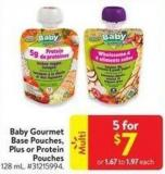 Baby Gourmet Base Pouches - Plus or Protein Pouches 128 mL