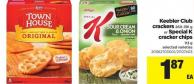 Keebler Club Crackers - 260-391 G Or Special K Cracker Chips - 113 G