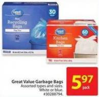 Great Value Garbage Bags