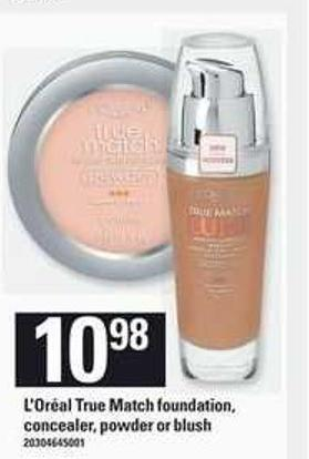 L'or'al True Match Foundation - Concealer - Powder Or Blush