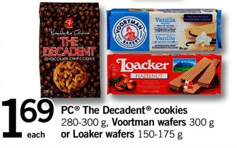 PC The Decadent Cookies - 280-300 G - Voortman Wafers - 300 G Or Loaker Wafers - 150-175 G