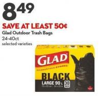 Glad Outdoor Trash Bags 24-40ct