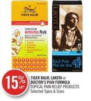 Tiger Balm - Lakota or Doctor's Pain Formula Topical Pain Relief Products