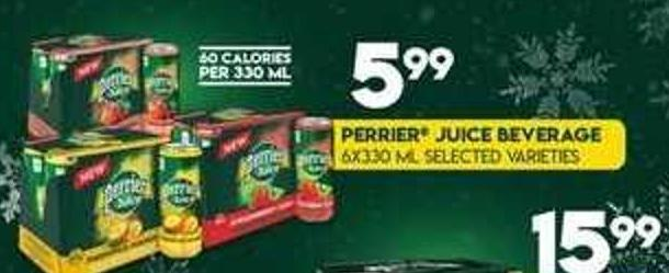 Perrier Juice Beverage.6x330 mL