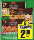 Irresistibles Roasted Pistachios - Walnut Halves & Pieces - Whole Natural Almonds Or Chocolate Covered Almonds