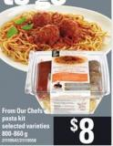 From Our Chefs Pasta Kit - 800-860 g