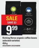 Kicking Horse Organic Coffee Beans - 454 G