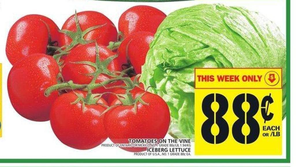 Tomatoes On The Vine Or Iceberg Lettuce