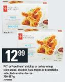PC Or Free From Chicken Or Turkey Wings With Sauce - Chicken Flats - Thighs Or Drumsticks - 700-907 g