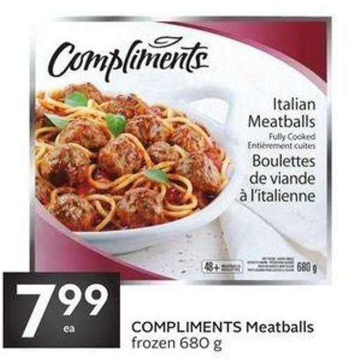 Compliments Meatballs Frozen