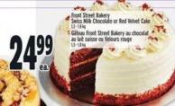 Front Street Bakery Swiss Milk Chocolate Or Red Velvet Cake 1.3 - 1.8 Kg