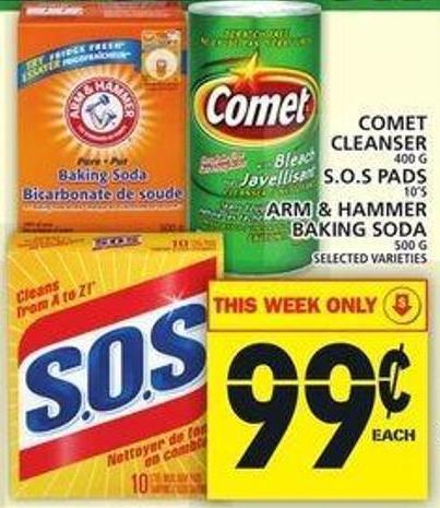 Comet Cleanser Or S.o.s Pads Or Arm & Hammer Baking Soda