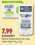 Schmidt's  Natural Antiperspirant - Bar Soap