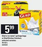 Glad Or No Name Garbage Bags Or Glad Kitchen Catchers - 10-52's