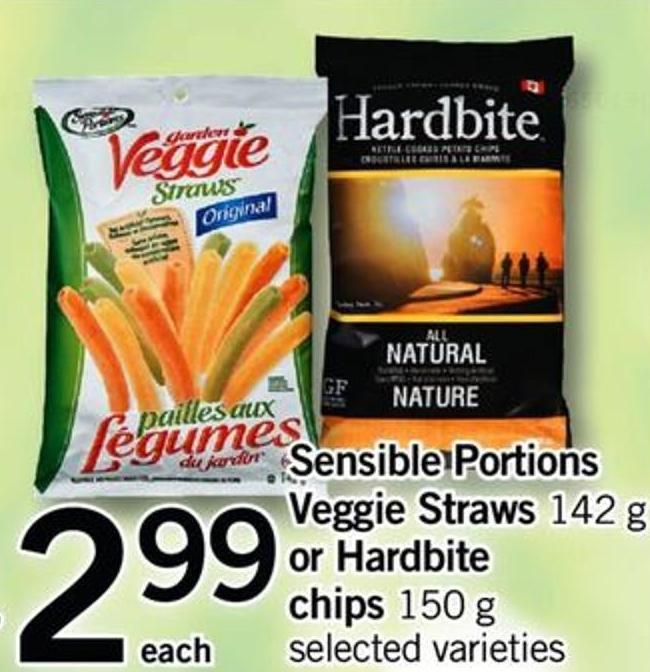 Sensible Portions Veggie Straws - 142 G Or Hardbite Chips - 150 G