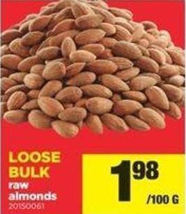 Loose Bulk Raw Almonds