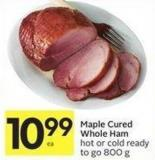 Maple Cured Whole Ham Hot or Cold Ready To Go 800 g
