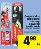 Colgate Kids And Adults Battery Powered Toothbrush