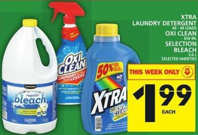 Xtra Laundry Detergent Or Oxi Clean Or Selection Bleach