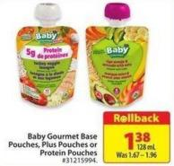 Baby Gourmet Base Pouches - Plus Pouches or Protein Pouches 128 ml