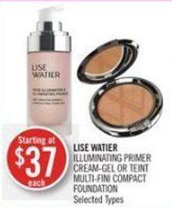 Lise Watier Illuminating Primer Cream-gel Or Teint Multi-fini Compact Foundation