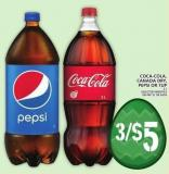 Coca-cola.canada Dry - Pepsi Or 7up