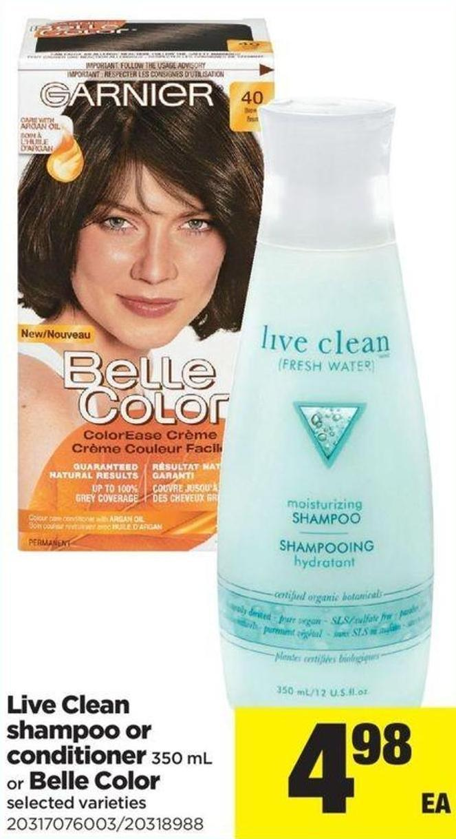 Live Clean Shampoo Or Conditioner - 350 Ml Or Belle Color