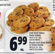 Front Street Bakery Family Cookies | Biscuits Front Street Bakery En Format Familial