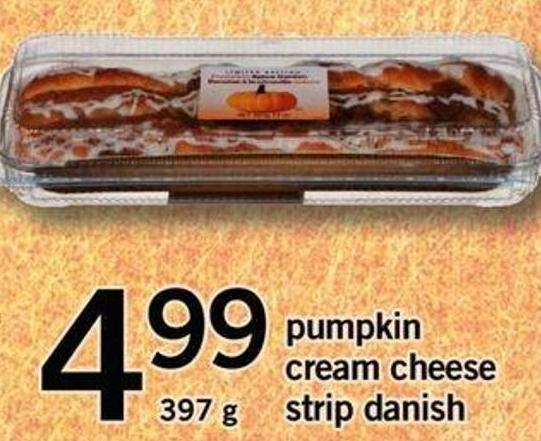 Pumpkin Cream Cheese Strip Danish
