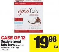 Suzie's Good Fats Bars - 12x39 g