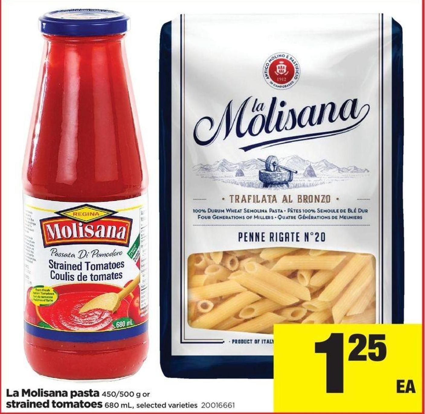 La Molisana Pasta 450/500 G Or Strained Tomatoes 680 ml