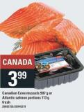 Canadian Cove Mussels 907 G Or Atlantic Salmon Portions 113 G