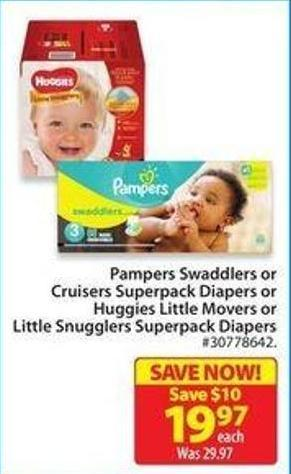 Huggies Little Movers or Little Snugglers Superpack Diapers