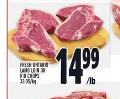 Fresh Ontario Lamb Loin Or Rib Chops