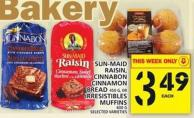 Sun-maid Raisin - Cinnabon Cinnamon Bread or Irresistibles Muffins