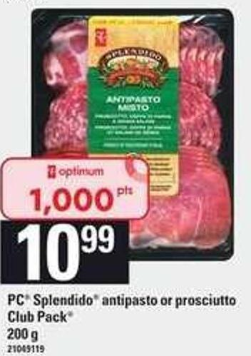 PC Splendido Antipasto Or Prosciutto - Club Pack 200 g